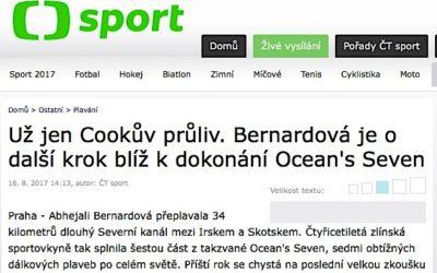 ČESKÁ TELEVIZE – Už jen Cookův průliv. Bernardová je o další krok blíž k dokonání Ocean's Seven