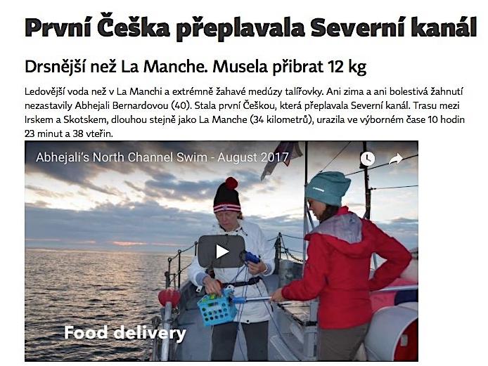 XANTYPA – První Češka přeplavala Severní kanál