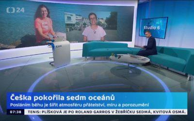 Fenomenální plavkyně Bernardová – Studio 6, Česká televize