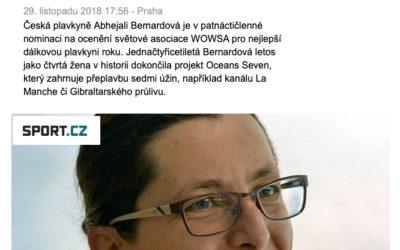 Dálková plavkyně Bernardová je v nominaci na světovou cenu – sport.cz