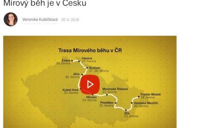 140 zemí, jedna myšlenka, miliony lidí, kteří v ni věří. Mírový běh je v Česku – Ráno na gauči